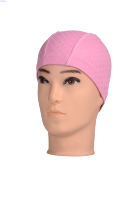 Wholesale Silicone Coated Swim Cap Waterproof And Comfortable solid color or printed color