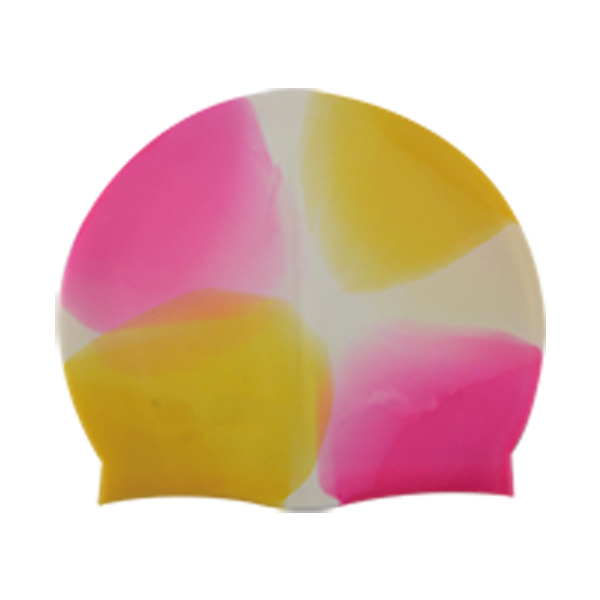 Multi color Swim Caps Silicone Mixed Color Professional Extra Large Silk Printing Waterproof Colorful Durable
